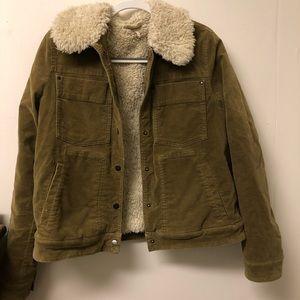 Free People Sherpa lined trucker jacket